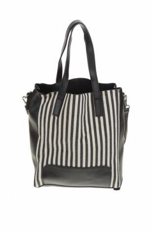 Дамска чанта, Цвят Черен, Еко кожа, текстил, Цена 27,93лв.