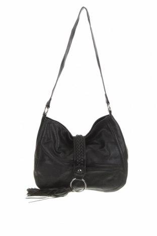 Дамска чанта Amber Rose, Цвят Черен, Еко кожа, Цена 25,23лв.