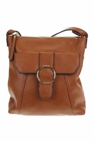Дамска чанта Amber Rose, Цвят Кафяв, Еко кожа, Цена 12,08лв.