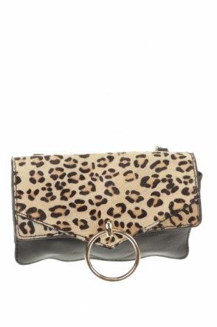 Дамска чанта Bardot, Цвят Черен, Естествена кожа, еко кожа, естествен косъм, Цена 30,87лв.