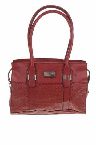 Дамска чанта Basque, Цвят Червен, Еко кожа, Цена 34,91лв.