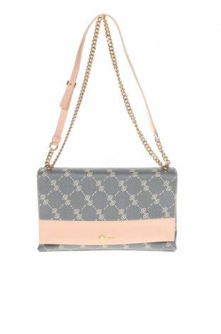 Дамска чанта Blumarine, Цвят Сив, Еко кожа, естествена кожа, Цена 175,14лв.