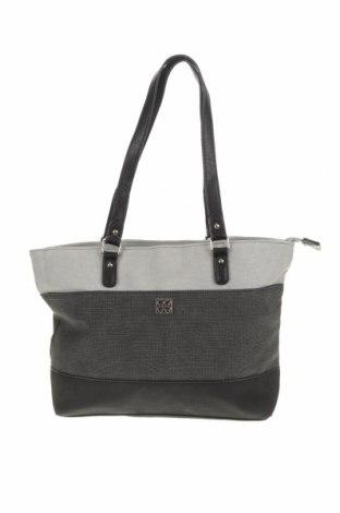 Дамска чанта Cabrelli, Цвят Сив, Еко кожа, Цена 29,30лв.