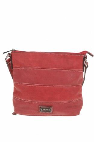 Дамска чанта Cellini Collection, Цвят Червен, Еко кожа, Цена 33,92лв.
