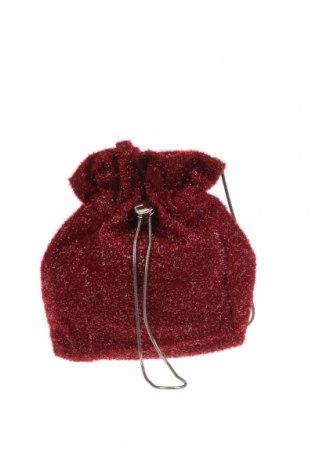 Дамска чанта Charles & Keith, Цвят Червен, Текстил, Цена 27,20лв.