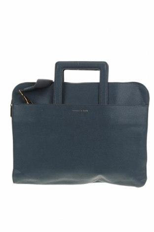 Дамска чанта Charles & Keith, Цвят Син, Еко кожа, Цена 22,68лв.