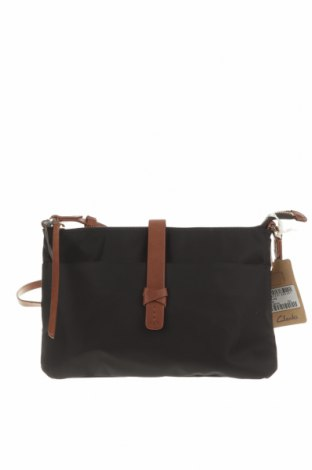 Дамска чанта Clarks, Цвят Черен, Текстил, естествена кожа, Цена 115,13лв.