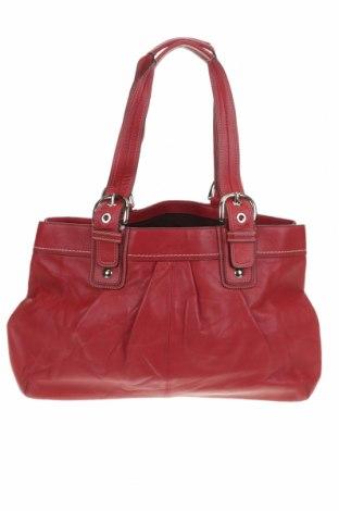 Дамска чанта Coach, Цвят Червен, Естествена кожа, Цена 57,12лв.