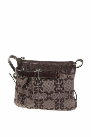 Дамска чанта Coccinelle, Цвят Кафяв, Текстил, естествена кожа, Цена 64,08лв.