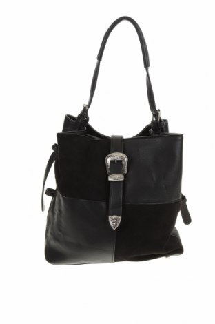 Дамска чанта Colette By Colette Hayman, Цвят Черен, Еко кожа, текстил, Цена 23,52лв.