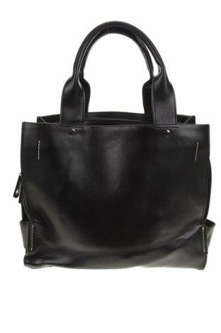 Дамска чанта Cue, Цвят Черен, Естествена кожа, Цена 88,20лв.
