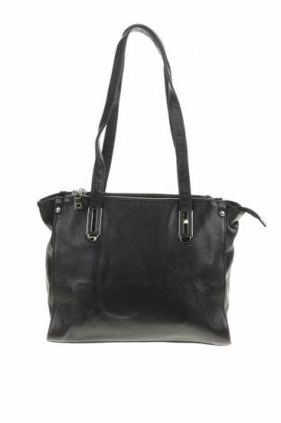 Дамска чанта Elegant, Цвят Черен, Естествена кожа, Цена 27,41лв.