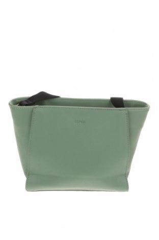 Дамска чанта Esprit, Цвят Зелен, Еко кожа, Цена 36,86лв.