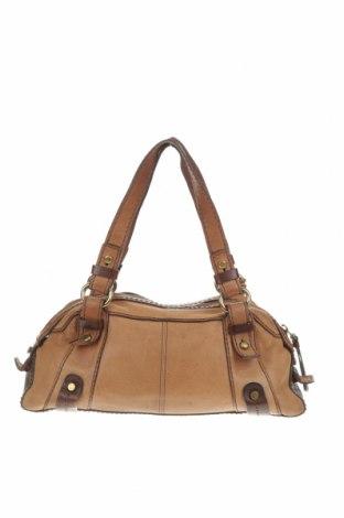 Дамска чанта Fossil, Цвят Кафяв, Естествена кожа, Цена 53,55лв.