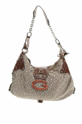 Дамска чанта Guess, Цвят Бежов, Текстил, еко кожа, Цена 48,30лв.