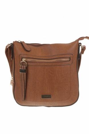 Дамска чанта Laura Jones, Цвят Кафяв, Еко кожа, Цена 25,52лв.