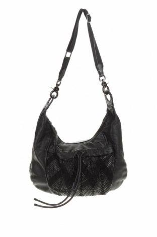 Дамска чанта Mimco, Цвят Черен, Естествена кожа, Цена 43,37лв.