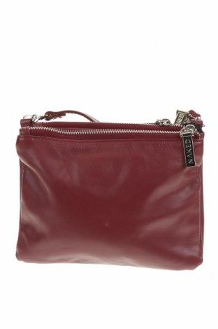 Дамска чанта Nakedvice, Цвят Червен, Естествена кожа, Цена 40,95лв.