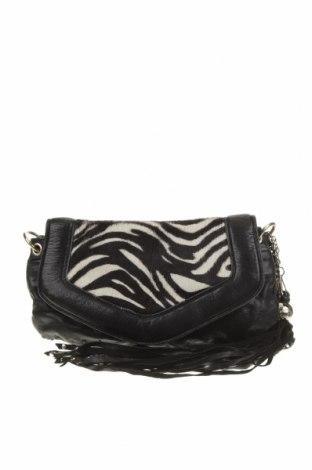 Дамска чанта Nanette Lepore, Цвят Черен, Естествена кожа, естествен косъм, Цена 50,40лв.