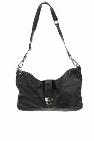 Дамска чанта Nicola Finetti, Цвят Черен, Естествена кожа, Цена 45,68лв.
