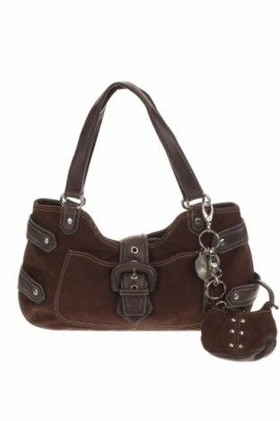 Дамска чанта Nine West, Цвят Кафяв, Текстил, еко кожа, Цена 33,08лв.