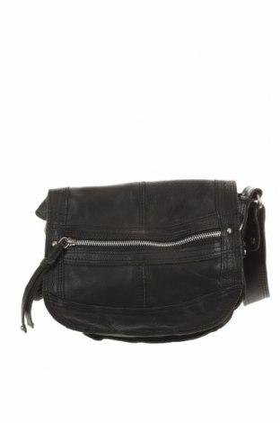 Дамска чанта Oasis, Цвят Черен, Естествена кожа, Цена 38,22лв.