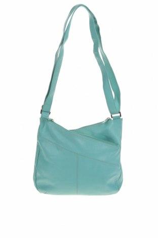 Дамска чанта Oran, Цвят Син, Естествена кожа, Цена 43,73лв.
