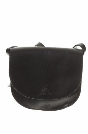 Дамска чанта Rowallan, Цвят Черен, Естествена кожа, Цена 159,76лв.
