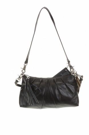 Дамска чанта Tchibo, Цвят Черен, Естествена кожа, Цена 70,09лв.