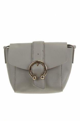Дамска чанта Topshop, Цвят Сив, Еко кожа, Цена 22,31лв.