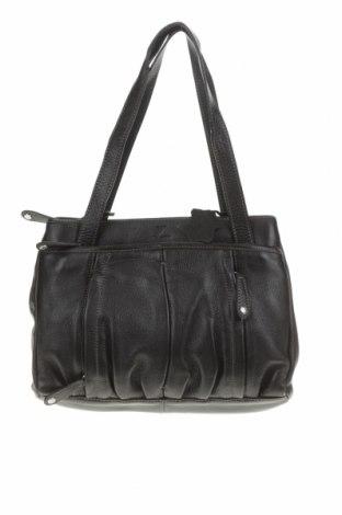 Дамска чанта Valerie, Цвят Черен, Естествена кожа, Цена 57,96лв.