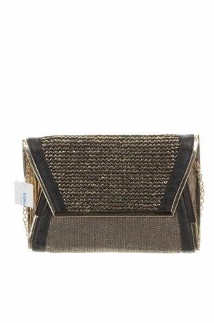 Дамска чанта Valley Girl, Цвят Златист, Текстил, Цена 32,76лв.
