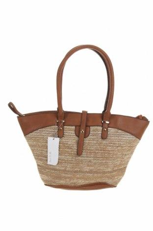 Дамска чанта W. Lane, Цвят Бежов, Текстил, Цена 50,40лв.