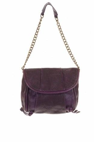 Дамска чанта Witchery, Цвят Лилав, Естествена кожа, Цена 25,36лв.