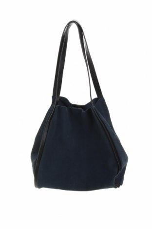 Γυναικεία τσάντα Zara, Χρώμα Μπλέ, Φυσικό σουέτ, Τιμή 31,18€