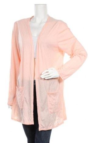 Дамска жилетка, Размер XXL, Цвят Розов, 65% полиестер, 35% памук, Цена 6,30лв.