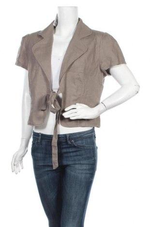 Дамско сако Casa Blanca, Размер XL, Цвят Сив, 55% лен, 45% памук, Цена 30,24лв.