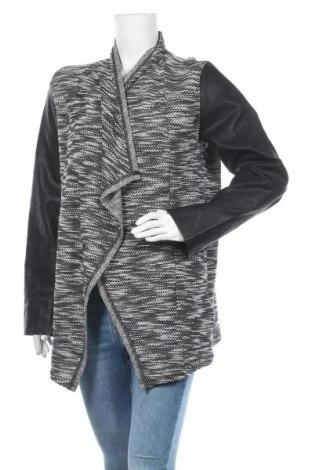 Дамска жилетка Flame, Размер L, Цвят Черен, Полиестер, памук, еко кожа, Цена 7,35лв.