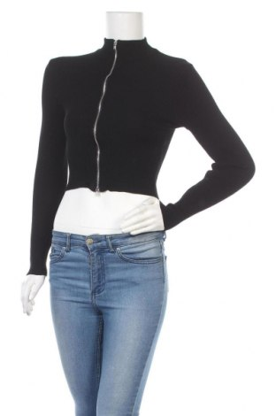 Γυναικεία ζακέτα H&M Divided, Μέγεθος S, Χρώμα Μαύρο, 80% βισκόζη, 20% πολυαμίδη, Τιμή 11,48€