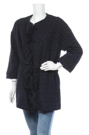 Дамска жилетка Zara, Размер M, Цвят Син, 51% памук, 49% акрил, Цена 10,29лв.