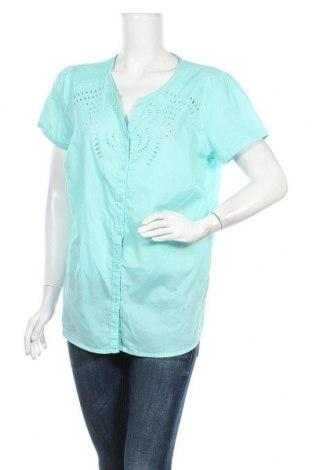 Γυναικείο πουκάμισο Charles Vogele, Μέγεθος L, Χρώμα Πράσινο, Βαμβάκι, Τιμή 3,64€