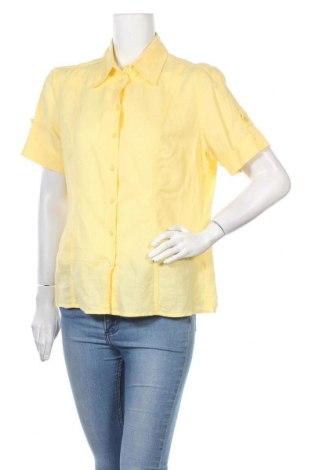 Дамска риза Kingfield, Размер L, Цвят Жълт, 60% лен, 40% памук, Цена 4,73лв.