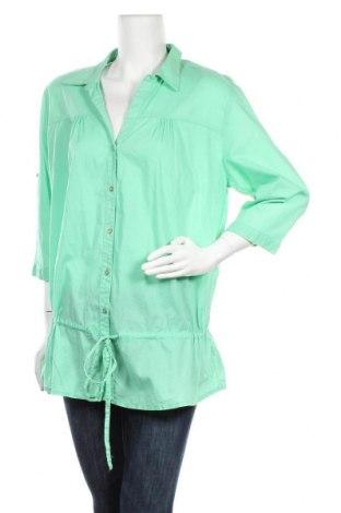 Дамска риза Maxi Blue, Размер XL, Цвят Зелен, Памук, Цена 4,46лв.