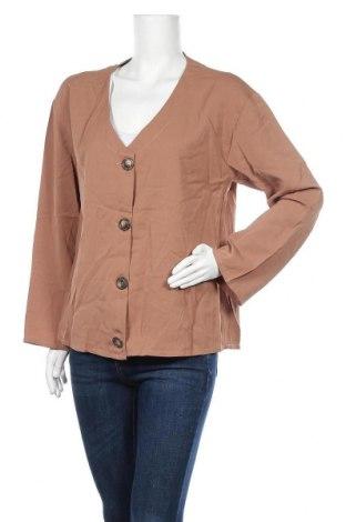 Дамска риза Miss Look, Размер XL, Цвят Кафяв, Памук, полиестер, Цена 15,12лв.