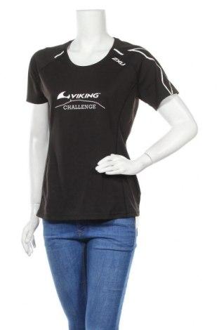 Дамска тениска 2XU, Размер M, Цвят Черен, Полиестер, Цена 20,25лв.