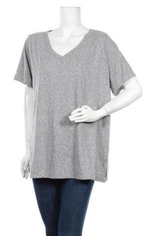 Дамска тениска Ava & Viv, Размер XXL, Цвят Сив, 50% полиестер, 38% памук, 12% вискоза, Цена 30,24лв.