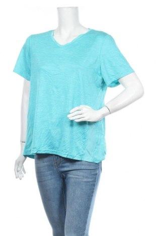 Дамска тениска Kirkland, Размер XL, Цвят Син, 96% полиестер, 4% еластан, Цена 6,57лв.