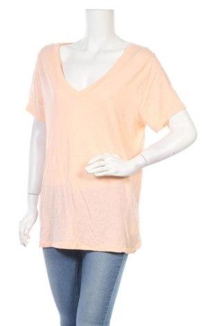 Дамска тениска Vintage, Размер XL, Цвят Оранжев, 60% памук, 40% модал, Цена 4,10лв.