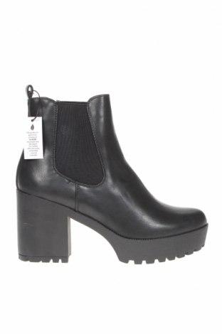 Γυναικεία μποτάκια Even&Odd, Μέγεθος 41, Χρώμα Μαύρο, Δερματίνη, κλωστοϋφαντουργικά προϊόντα, Τιμή 28,42€