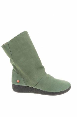 Дамски боти Softinos, Размер 37, Цвят Зелен, Естествена кожа, Цена 139,00лв.